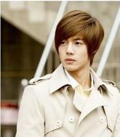 Fashion male wig trend male wig bangs oblique boys handsome