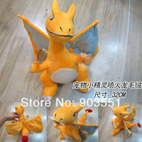 Free Shipping Anime Pokemon 32CM Charizard Plush Toy pokedoll Soft Stuffed animals Children Gift