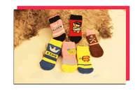 1Set/lot Dog Cat Puppy Cute Shoes Socks Dogs Pet Socks Anti Skid Bottom Free Shipping #9234