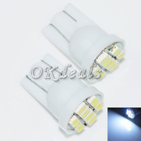 Free Shipping 20x HOT Car Ultra White 8 LED 3020 SMD T10 W5W Bulb Wedge Side Light Bulb Lamp NEW