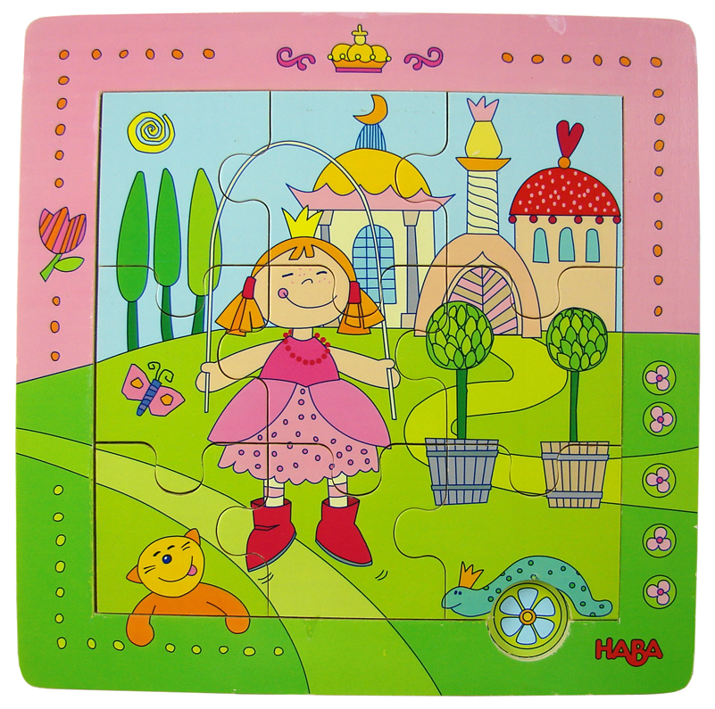 Haba story puzzle magnetic puzzle wallmap wooden play princess puzzle intelligence toys(China (Mainland))