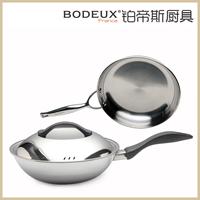platinum steel wok fry pan twinset 304 material