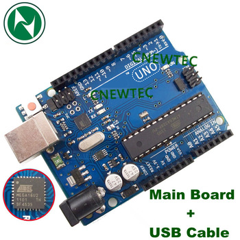 Free shipping 5pcs/lot UNO R3 board MEGA328P 100% original and new ATMEGA16U2 + 1PCS USB Cable
