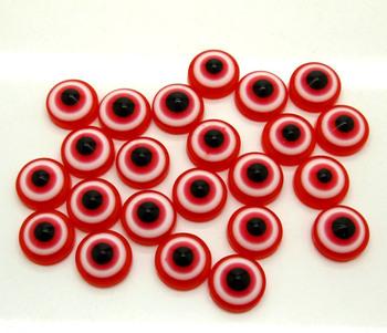 200 Dark Red Eye Beads Cabochon Scrapbook Fit Phone Embellishments