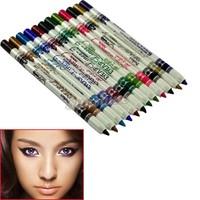 12 Color Lip Eyebrow Plastic Glitter Eyeliner Pencil Cosmetic Makeup Set Wholesale&Retail 4914