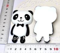 Flatback Resin Cartoon Doll Black Bow Bow Panda Cell Phone Case Jewelry Accessories Supply -1 PCS