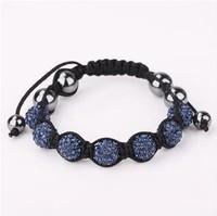 Fashion 2013 shamballa crystal bracelet charms 7-14 Color BB086