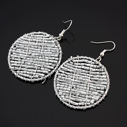 Vintage bohemian earrings Glass Big Circle fashion charm drop earrings for women jewelry wholesale(China (Mainland))