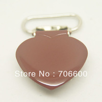 200pcs per lot,heart shape suspender clip in brown color,wholesale Suspender Clip,Suspender Clips Suppliers & Manufacturers