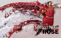 """36 Derrick Rose Chicago Bulls NBA MVP Star 24""""*38"""" Poster"""