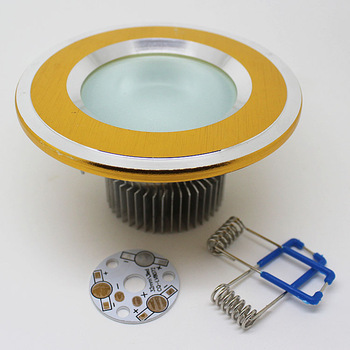 Led downlight 2.5 3 led downlight shell accessories diy led lighting kit wire drawing gold scrub