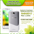 2013 Free shipping Lenovo A706 Qualcomm Quad Core 1GB RAM 4GB ROM 4.5 Inch IPS Screen mobile phone white color\ammy