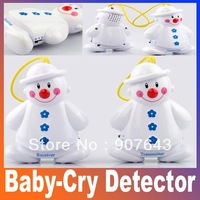 2014 New Lovely Snowman Wireless Baby Cry Detector Monitor Watcher Alarm voice transmission sound Free Shipping