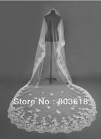 "118"" Length 1T White/Ivory Elegant Lace Edge Bridal Wedding Veil Cathedral"