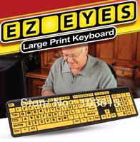 EZ EYE KEYBOARD NEW LARGE PRINT AS SEEN TV 4X LARGER WATERPROOF