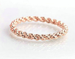 Wholesale Italian Jewelry 18K Rose Gold Plated Twist Jewelry Rings Korean Style Fashion Women Jewellery Free Shipping(China (Mainland))