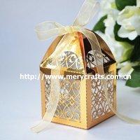 "Fed express shipment to Malaysia! 220pcs of custom made laser cut ""filigree"" metallic wedding favor boxes"