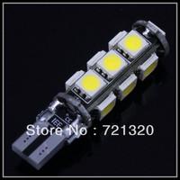 2 pcs Error Free CANBUS T10 W5W 194 168 2825 2821 Car White 13 SMD 5050 LED Light Bulbs DC 12V  car led lamp