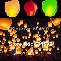 5x 10x Cylindrical Lantern Chinese paper Wishing lamp Wedding flying sky Lantern dropshipping free shipping