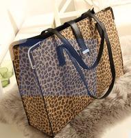 European and American big new retro H belt buckle decorated Leopard large bag portable shoulder bag handbag
