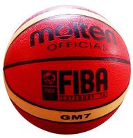 Free Shipping Size7 Fake Molten Basketball GM7, PVC Material Free with ball pump+net bag+2pcs pins