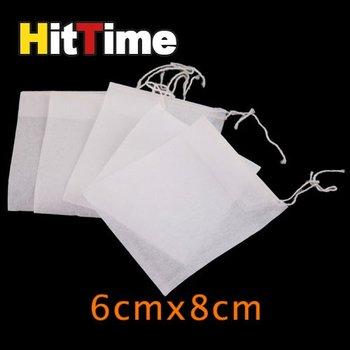 200Pcs/lot Empty String Heat Seal Filter Paper Tea Bag 6X8CM  #5254