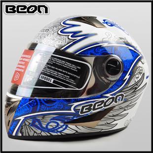 Motorcross Helmet Motorcycle helmet motorcycle helmet beon-b500 blue Motorbike helmets