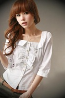 New arrival classic plus size clothing summer mm loose short-sleeve shirt large mm Large shirt