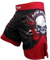 Freeshipping!!! Sweat anti-UV Breathable RED pants MMA fighting pants red and black Muay Thai Shorts