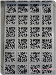 2x2cm QR Code/Tag Adhesive Stickers Customized Accetaple High Quality 1000pcs/pack Free Shipping(China (Mainland))