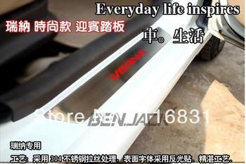 2008-2013 Hyundai Verna / Solaris Stainless Steel Scuff Plate/Door Sill 4pcs\set