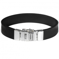 Free shipping / China alibaba hot selling black leather man sports bracelets
