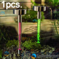 Outdoor Solar Power Acrylic 7 Color Changing LED Lawn Path Garden Lights Lamps
