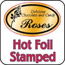 hot foil stamped sticker