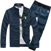 Sports Suit Men Casual Sweatshirt Set Cardigan Hoodies+Pants Warm Tracksuits Twinset