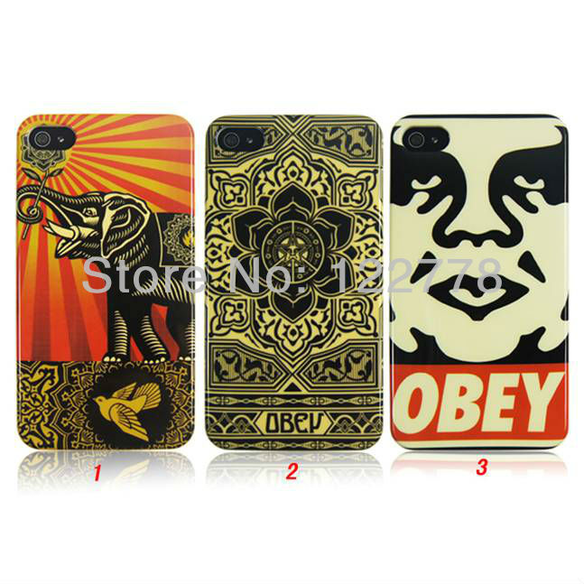 50pcs/lot + DHL FREE SHIPPING Elephant Lucky Pattern Plastic Case for iPhone 4 4S(China (Mainland))