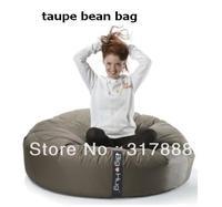 Free shipping ORIGINAL ISLAND taupe cuddle beanbags, outdoor round cushion, lazy bean bag chair