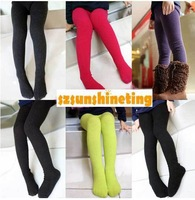 Autumn Winter girls clothing decorative pattern candy color basic stockings leggings 2pcs/lot for 90~120cm free shipping