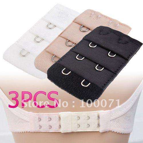 6Pcs Back Bra Extenders Strap Extension 2 Hooks 3 Colors [4685|01|02](China (Mainland))