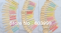 Pick Color 666 LARGE Pastel Wooden Cutlery Set disposable wooden spoon fork knife in Rainbow Chevron Stripe Polka Dots,Free Ship