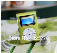 Free Shipping Factory Direct! 10pc/lot direct MINI clip MP3 music player supports Micro SD card, LCD retail package