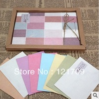 free shipping!!! (8pcs+32pcs)letter paper envelope set / Boxes of retro wholesale stationery envelopes in the grid /