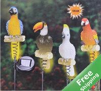 Solar Garden light + 4 Parrot design + 100% solar powered + Free shipping