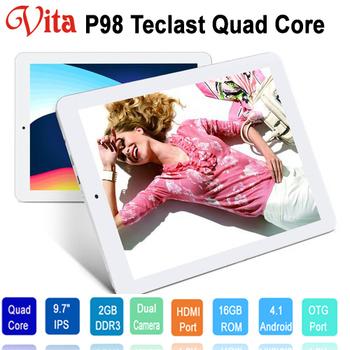 """Quad Core 9.7"""" Teclast P98 IPS II Screen Allwinner A31 2GB RAM 16GB ROM Dual Camera HDMI OTG"""