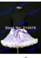 Free shipping Girls All the four seasons can wear skirt  lilac and white tutu pettiskirt pretty princess skirt