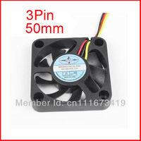 10Pcs Mute Black 12V 3Pin 50 MM 5CM 5010 PC CPU VGA Heatsink Cooling Cooler Fan