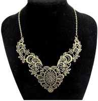 CCN126 Hot Fashion Flower Choker Necklace Vintage Palace Hollow Lace Camellia Collar Necklace