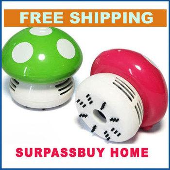 Free Shipping 100% Guarantee Mini Home Handheld Tabletop Vacuum Cleaner Mushroom Vacuum Car Laptop Dust cleaner