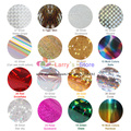 New 16 Mix Rolls Color 43 Styles Available Nail Art Transfer Foils Sticker Adhesive Acrylic Gel Tips Decoration Aluminum +Bottle