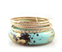 Fashion Quality Splash-ink Multi-layer Gold Personality Conbination Bracelet B379